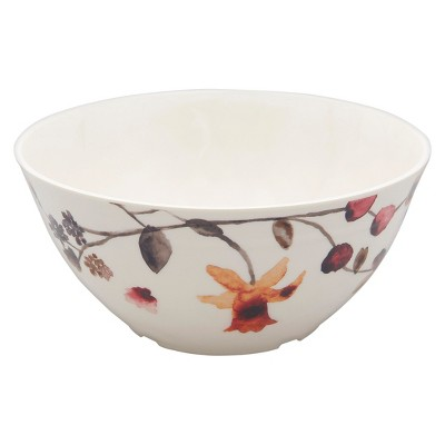 Round Floral Cereal Bowl