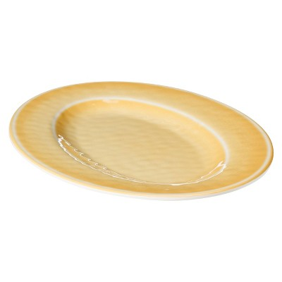 Skinny Yellow Oval Platter