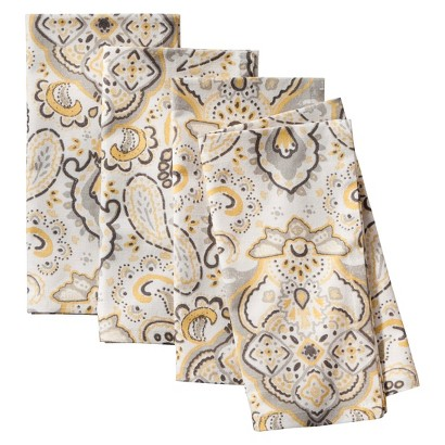 Threshold™ Paisley Medallion Napkin Set of 4 - Yellow
