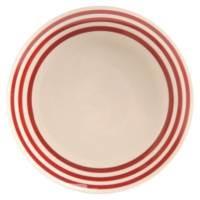TH Bistro Stripe Red Dinner Plate