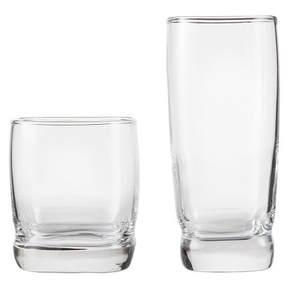THRESHOLD™ BRAMPTON CLASSIC GLASS DRINKWARE SET OF 12 - CLEAR (13.5 OZ - 16.75 OZ)