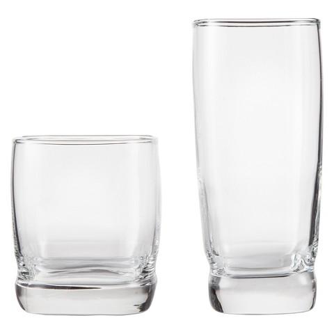 Threshold™ Brampton Classic Glass Drinkware Set of 12 - Clear (13.5 oz - 16.75 oz)