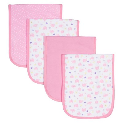 Gerber® Newborn Girls' 4 pack Burpcloth Set - Pink