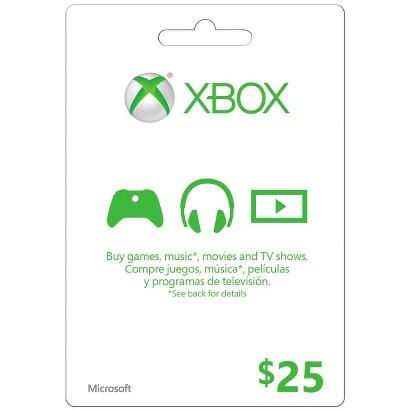 Xbox Live Microsoft2013 $25