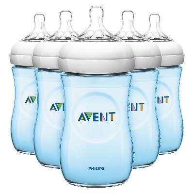 Philips Avent Natural Bottle (Blue) - 9 oz (5 Pack)