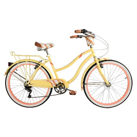 """Huffy 26"""" Ladies Fresno Cruiser - 7 speed - Yellow"""