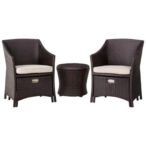 Loft 5 Piece Wicker Patio Conversation Furniture Target
