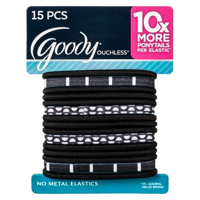 Goody Ouchless Black Mod Elastics - 15 Count