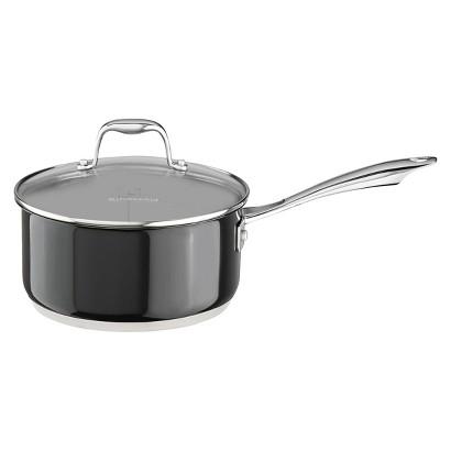 KitchenAid® 3 Quart Stainless Steel Saucepan with Lid - Black