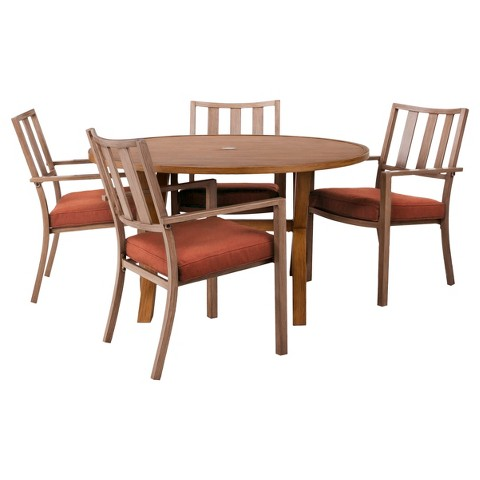 Threshold Holden 5 Piece Metal Round Dining Furniture Set