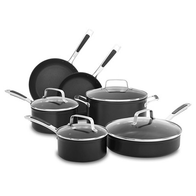KitchenAid® 10 Piece Hard Anodized Non-stick Set - Black