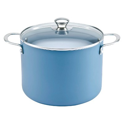 Chefmate Ceramic Nonstick Stock Pot Teal 8qt