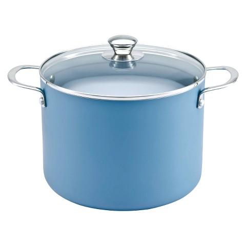 Chefmate 8 qt Stockpot-Teal