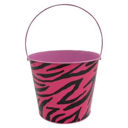 Easter Large Tin Basket Zebra