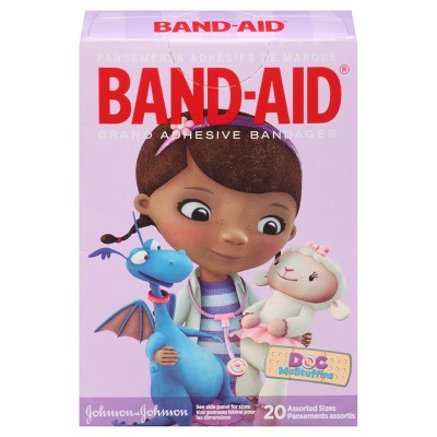 Band-Aid Doc McStuffins Adhesive Bandages - 20 Count