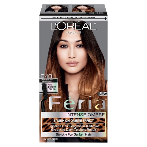 L'Oreal® Paris Feria Brush-on Intense Ombre Effect O40 For Soft Black to Black Hair
