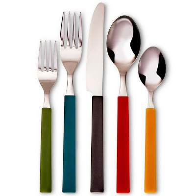 Room Essentials™ Evan 20 Piece Square Handle Flatware Set - Multicolor