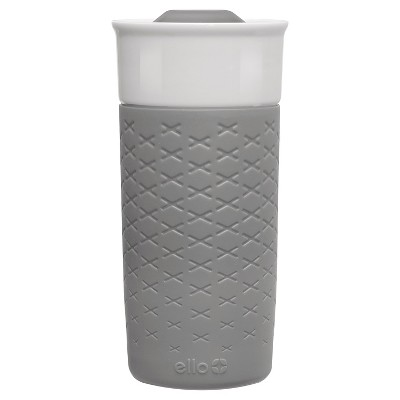 Ello Ogden 16oz Ceramic Travel Mug - Grey