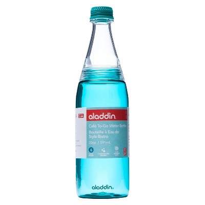 Aladdin Cafe To-Go Water Bottle - Patina Blue (20 oz)