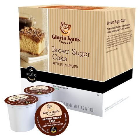 Gloria Jean's Coffees Brown Sugar Cake Medium Roast Coffee Keurig Cups 18 ct
