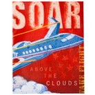 Wall Canvas - Soar Plane 14x18