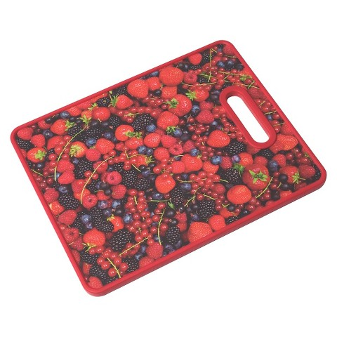 """Farberware 11x14"""" Photo Real Image Cutting Board - All-Over Berries"""