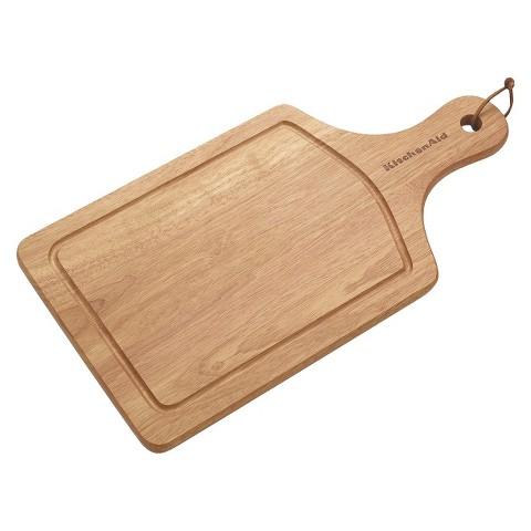 """KitchenAid® 9x17"""" Wood Cutting Board"""