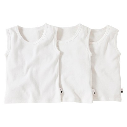 Burts Bees Baby™ Infant Toddler Boys' 3 Pack Muscle Tank Set - Ivory/Grey/White