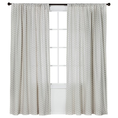 Origami Print Curtain Panel Cream (54x95 ) - Nate Berkus™