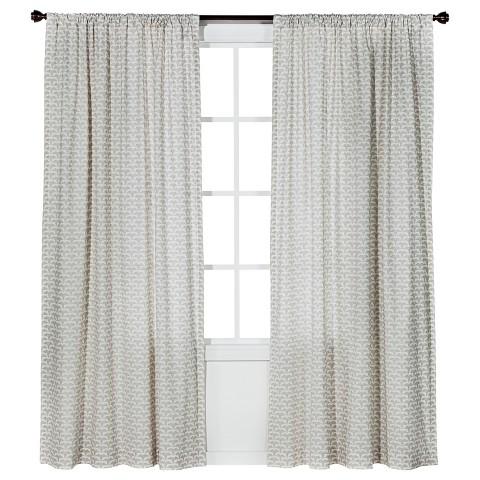 Nate Berkus™ Origami Print Curtain Panel - Cream