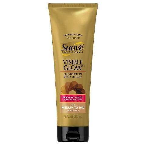 Suave Visible Glow Lotions - Medium to Tan- 7.5 oz