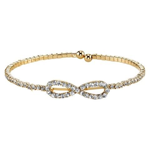 Silver Plated Infinity Bracelet - Gold