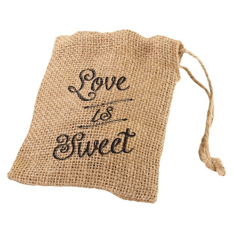 Burlap Favor Bags (set of 4)