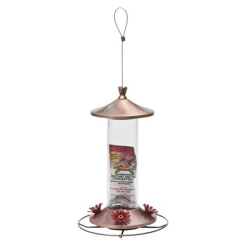 Perky-Pet Copper Glass Tube Hummingbird Feeder