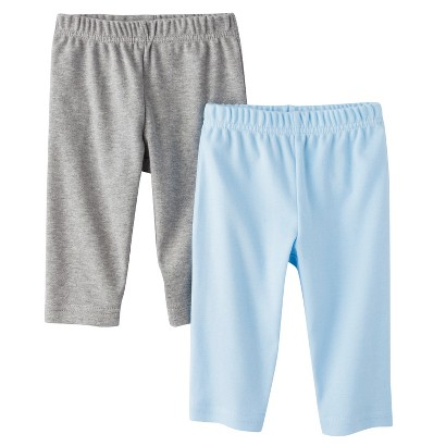 Circo® Newborn Boys' 2 Pack Pants - Light Blue/Grey