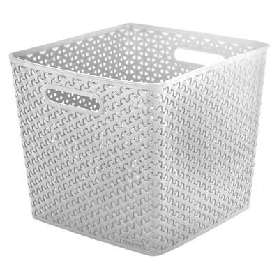 Y Weave Large Storage Bin - White - Room Essentials™