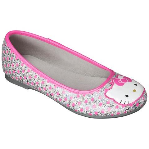 Girl's Hello Kitty Ballet Flat - Silver