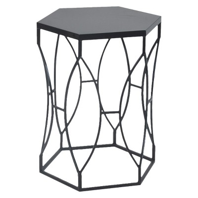 Matte Metal Accent Table Black - Threshold™