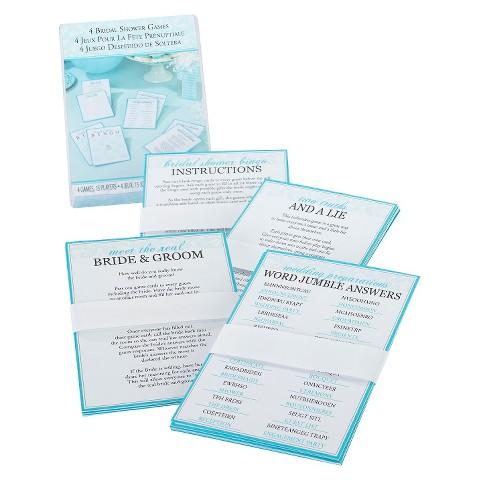 Bridal Shower Games (set of 4)