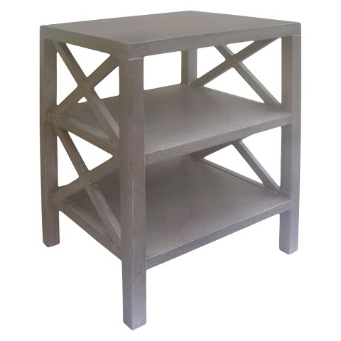 Threshold™ X Accent Table - Gray Wash