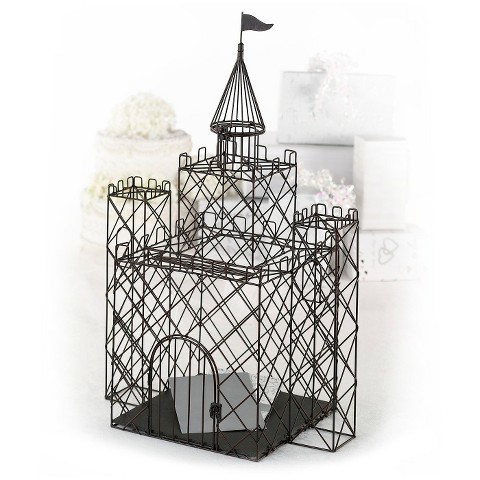 Metal Castle Wedding Card Box