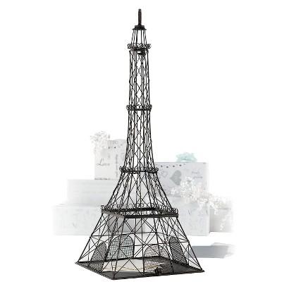 Metal Eiffel Tower Card Box