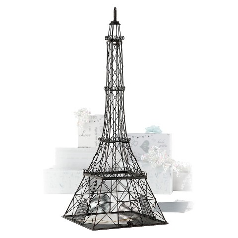 Metal Eiffel Tower Wedding Card Box