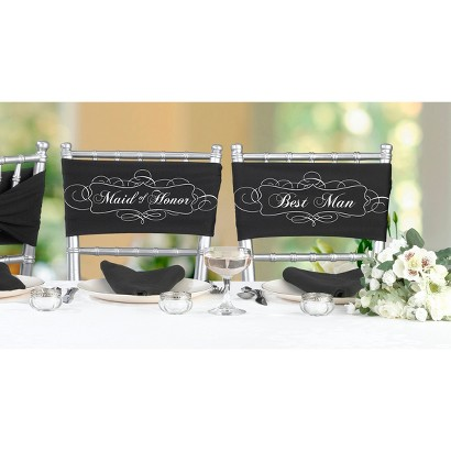 Maid Of Honor And Best Man Chair Sash