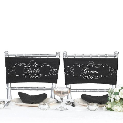 Bride and Groom Chair Sash