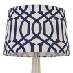 Threshold™ Trellis Print Modified Drum Lamp Shade Nighttime Blue