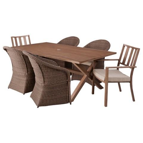 Threshold™ Holden 7-Piece Metal/Wicker Rectangular Patio Dining Furniture Set