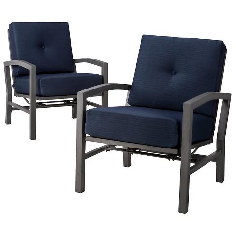 Threshold™ Squier 2-Piece Metal Patio Motion Club Chair Set