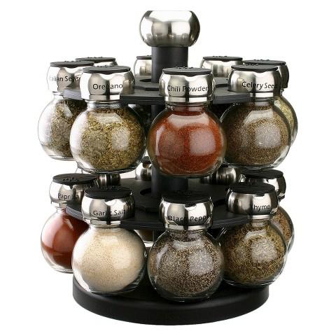 Olde Thompson 16 Jar Filled Orbit Spice Rack