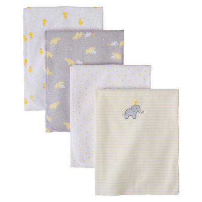 Just One You Made by Carter's® Elephants & Duckies 4pk Flannel Receiving Blankets